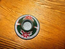 Christmas Candle Holder Poinsettia Plastic No. 920 Made in USA Vintage