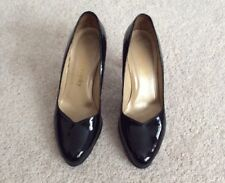 Ladies Russell & Bromley Black Patent Leather Court Shoes - UK4.5