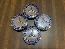 4 Pcs Mercedes Benz Dark Blue Wheel Center Hub Caps Emblem 75Mm