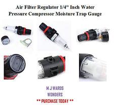 "Air Filter Regulator 1/4""BSPP Inch Water Pressure Compressor Moisture Trap Gauge"