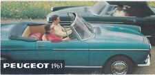 Peugeot 403, 404 & Fourgon Brochure - 1963 - in French