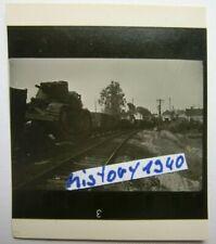 1.Kleines Agfa Lupex Foto mit Panzer auf dem Zug verladen.(16)