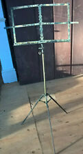 ANTIQUE ADJUSTABLE FOLDING MUSIC STAND - DEANS PATENT