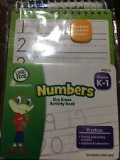 LeapFrog Numbers Dry Erase Activity Book for Grades K-1 with Washable Dry Erase