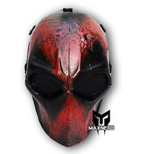 Deadpool Army of Two Paintball Airsoft Bb Gun Mesh Full Face Mask Costume Gear