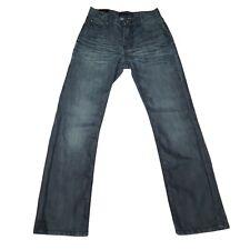 GS115 Dean Slim Fit Jeans Girls Size 12 Blue Mid Rise Dark Wash No Stretch