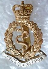 Badge- Army Medical Corps Cap Badge QC, In Arduis Fidelis Badge