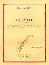 Partitions classique COMBRE MERIOT MICHEL - GRISAILLE - SAXOPHONE ALTO OU TENOR