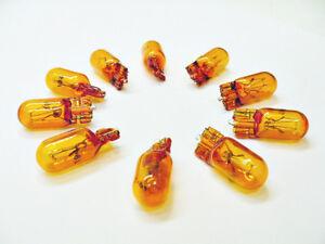Box of 10 Amber Incandescent 194NA Side Marker Parking Lights Bulbs Lamps Mopar