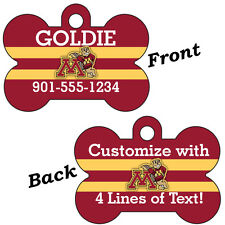 Minnesota Gophers Double Sided Pet Id Dog Tag Personalized w/ 4 Lines of Text