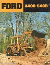 Equipment Brochure - Ford - 340B 540B - Tractor Loader Backhoe - c1980 (E1137)
