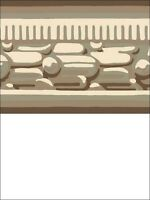 Wallpaper Border Classic Architectural Molding Taupes Beige & Metallic Platinum