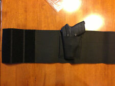 Belly Band Waist Wrap Concealment Pistol/Gun Holster Ambidextrous Holds 2 Mags