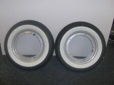 VESPA PK 100 XL 2 WHEEL PACKAGE WHITEWALL TYRES MOUNTED ON RIMS