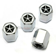 (4) Chrysler Pentastar Dodge Plymouth Logo Chrome ABS Tire/Wheel Stem Valve CAPS