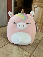 "Squishmallow Ilene The Unicorn 8"" Stuffed Plush Toy Pink Rainbow NEW"