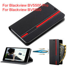 PU Leather Flip Stand Card Wallet Case Cover For Blackview BV5500 / 6800 Pro