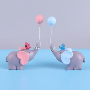 Cute Balloon Elephant Cake Toppers Wedding Birthday Party Cake Decor Kids Favors