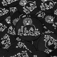 Keith Haring & Larry Levan Embroidered Patch Disco Nightclub Paradise Garage
