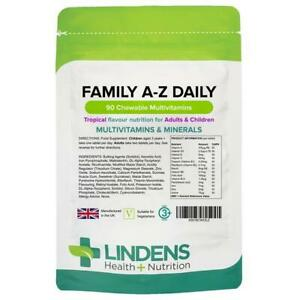 Kids Multivitamins Tablets 90 Chewable Childrens Vitamins Tropical Flavour
