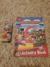 Paper Mario Color Splash Activity Book And Crayons Rare Promo