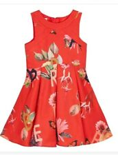 Baker by Ted Baker-Girls' Red Floral Print Dress Age 10 Yrs