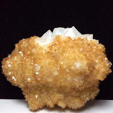 Natural crystal cluster quartz fluorite mineral specimen. Healing. 550g.