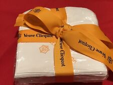 Authentic Veuve Clicquot Signature White Cocktail Napkins **Awesome** VCP