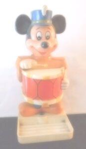 fl723m - WDP Mickey Mouse Plastic Soap Dispenser...Works...c.1976