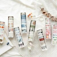 8pcs Paper Tapes Fashion Cute Washi Tape Set for Gift Wrapping Scrapbook Planner