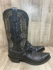 1883 Lucchese Western Embroidered Leather Cowboy Boots Black 10 D