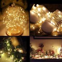 Light Bulb Cork LED Light Wine Bottle Copper Wire String Festival Party Decor Q