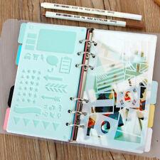 2pcs Plastic Craft Cutting Bullet Journal Stencil Dairy Planner Hallow Template