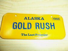 1988 Post Cereals - ALASKA GOLD RUSH - Bicycle License Plate