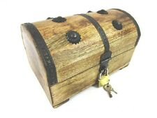 Holzkisten Piraten Schatztruhe Schatzkiste Holzbox mit Schloß