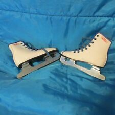 Lake Placid Girls Ice Skates- White - Pre Owned - Nice Condition - Size Usa 11