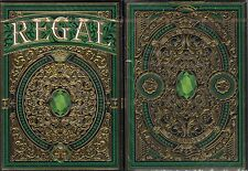 Regal Green Playing Cards Poker Size Deck EPCC Custom Limited Edition New Sealed