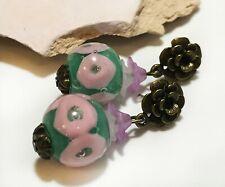 Handmade Earrings with Lampwork Glass From Murano Glass Tamara Yarilo Brand