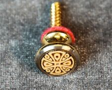 Strap Button, Gold, Oversize, with engraved Celtic Cross