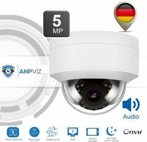 ANPVIZ IPC-D250W-S 5MP IP-Kamera mit Audio Dome Hikvision kompatibel Außen PoE