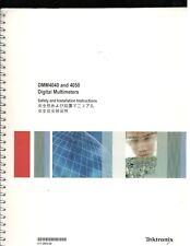 Tektronix DMM4040 And 4050 Digital Multimeter Safety & Installation Instructions