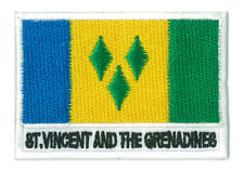 Patch écusson patche drapeau ST VINCENT et les GRENADINES 70 x 45 mm brodé