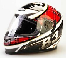 Viper Rs-v9 Tartan Motorcycle Scooter Full Face Crash Helmet Scottish Flag XL