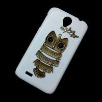 Cute Retro Bronze Metal Branch Owl Back Hard Case Skin For Lenovo A830/A850/A859