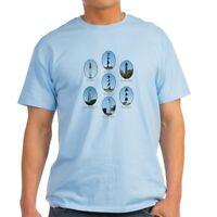 4109532e CafePress NC Lighthouses Light T Shirt 100% Cotton T-Shirt (304121847)