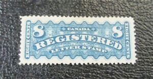 nystamps Canada Registered Stamp # F3 Mint OG H UN$900 VF   J15x2346