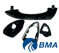 Bmw X5 E53 99-06 Outside Door Handle Left Side (Front/Rear) painted black gloss