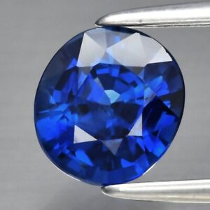 GIL CERTIFICATE Incl.*1.15ct VVS Oval Natural Royal Blue Sapphire, Heated Only