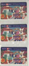 Pacific Bell 1994 RARE Olvera St Spanish Specimen Phone Cards