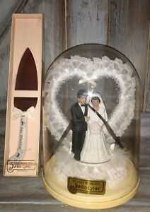 New Vintage Jamie Lynn Wedding Cake Topper with cutting knife african american